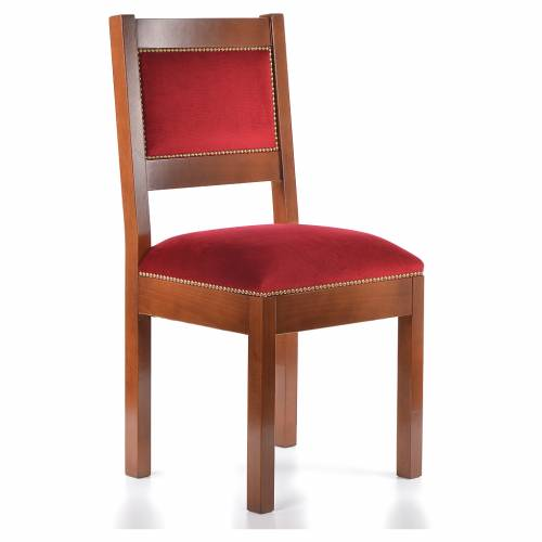 Chair of walnut wood, modern, Assisi style s4