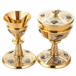 Metal Chalices Ciborium Patens: Chalice and ciborium with chiselled Putti