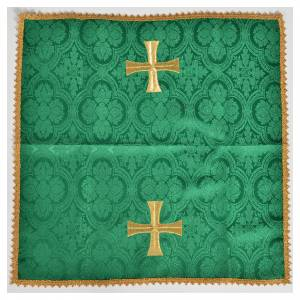Altar linens: Chalice cover with golden cross