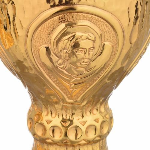 Chalice et ciboire Molina in brass hammered finishing, 4 Evangel s7