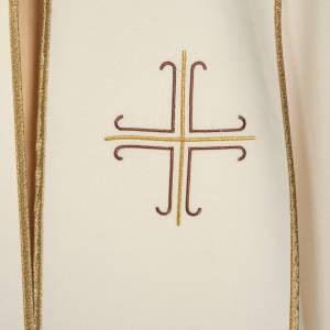 Chapes, Chasubles Romaines, Dalmatiques: Chape liturgique blanche avec croix stylisées