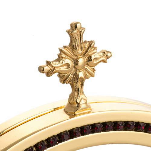 Chapel monstrance in brass with the Risen Christ s4