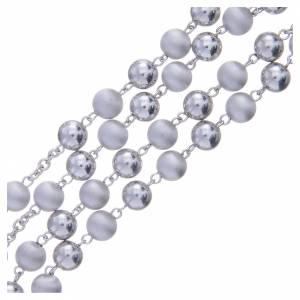 Chapelet argent 800 perles 8 mm lisses et satinées s3