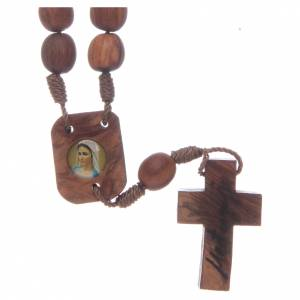 Bracelets, dizainiers: Chapelet de Medjugorje en olivier