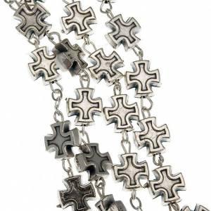 Chapelet en métal, grains croix 7 mm s4