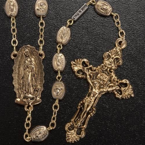 Chapelet Ghirelli doré Notre Dame de Guadalupe 9mm s2