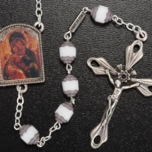 Chapelet Ghirelli grains coupés icône Notre-Dame de Vladimir s2