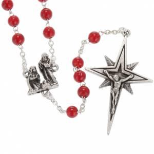 Chapelet Ghirelli Nativité et étoile verre rouge 6 s1
