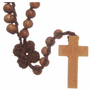 Chapelet Medjugorje avec croix en bois et grains 9 mm s2