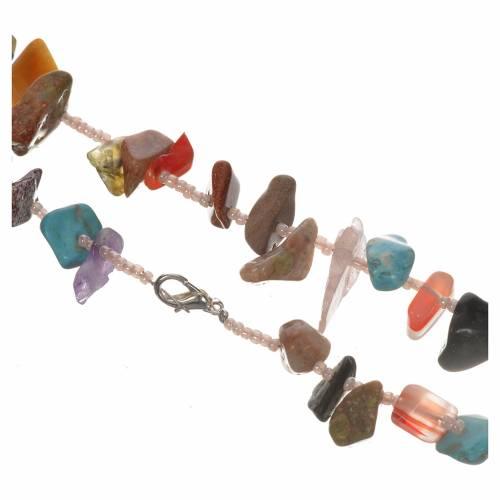 Chapelet Medjugorje pierre dure multicolore s2