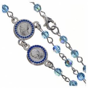 Chapelet Pape François Swarovski bleus argent 800 s4