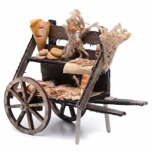 Crèche Napolitaine: Charrette avec pain crèche napolitaine