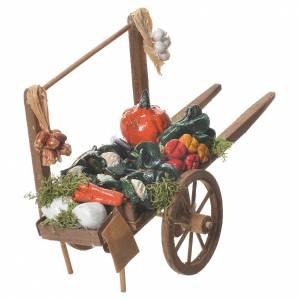 Charrette chargée de légumes crèche napolitaine 18x6 cm s3