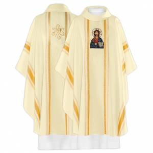 Chasuble 100% polyester Christ pantocrator s1