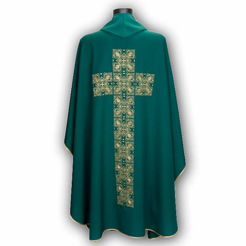 Chasuble and stole, central cross s6