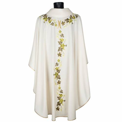 Chasuble and stole, ivy and pelican s5