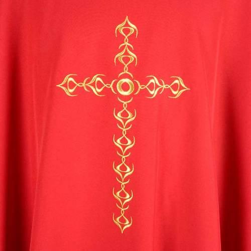 Chasuble golden cross s3