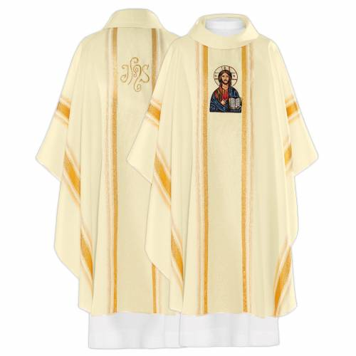 Chasuble in 100% polyester, Christ Pantocrator image s1