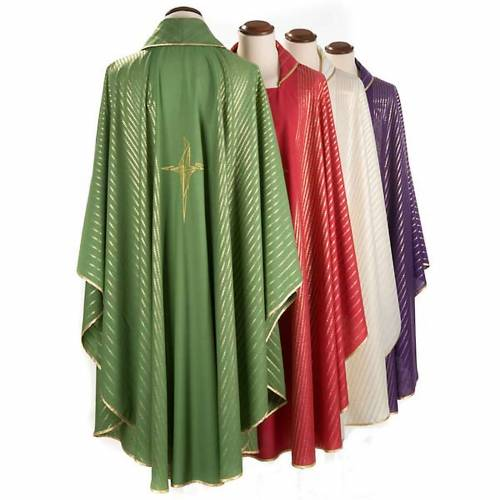 Chasuble in lurex with stylized cross s2