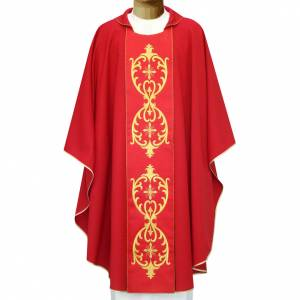 Chasubles: Chasuble in wool, double twisted yarn and embroidered galloon