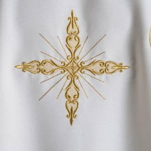 Chasuble liturgie, décor doré et croix s4