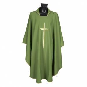 Chasuble liturgique croix double polyester s4
