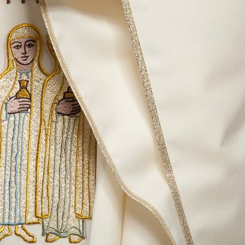 Chasuble Mariale et étole  avec ange et croix s7