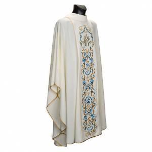 Chasubles: Chasuble Mariale et étole brodées MA