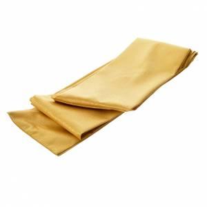 Chasuble or avec bande brodée d'épis 100% laine double retors s7
