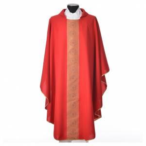 Chasuble polyester croix décors s5