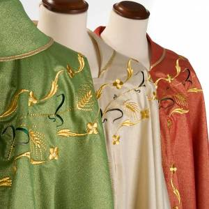 Chasuble with chalice and host, lurex s3
