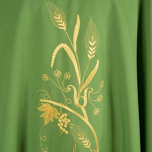 Chasuble with gold lamp and ears of wheat s4