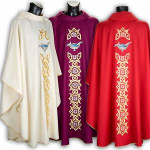 Chasubles: Chasuble with stole, doves