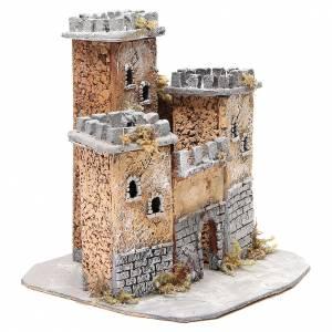 Château en liège crèche napolitaine 28x26x26 cm s3