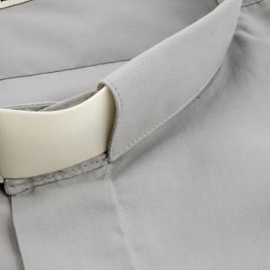 Chemises Clergyman: STOCK Chemise m.longues popeline grise