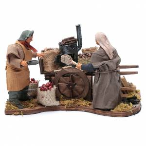 Neapolitan Nativity Scene: Chestnut seller for Neapolitan nativity scene 12 cm