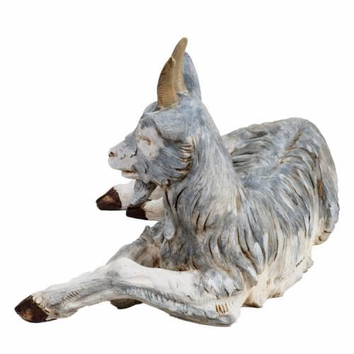 Chèvre couchée crèche 125 cm résine s3