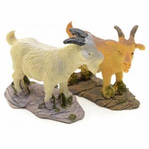Chèvre pour crèche résine 10 - 14cm s1