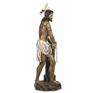 Christ at the Column 180cm in wood paste, antique decoration s7