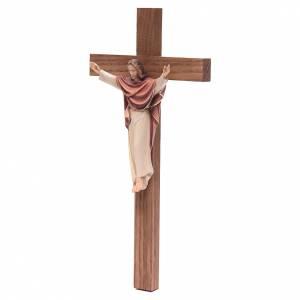 Crucifix en bois: Christ roi, croix droite