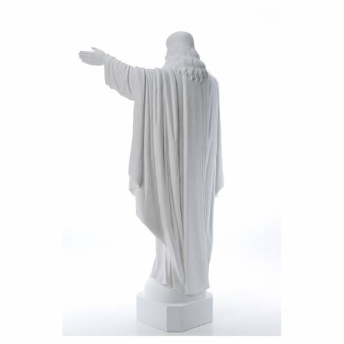 Christ the Redeemer in reconstituted Carrara Marble, 100 cm s3
