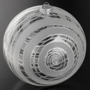Christmas balls: Christmas bauble, glass and silver decorations 15cm