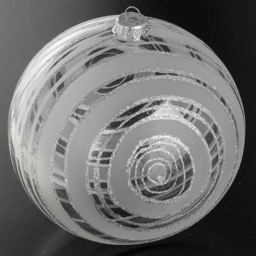 Christmas bauble, glass and silver decorations 15cm s2