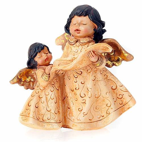 Christmas decoration angels pair with music score s1