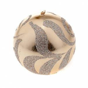 Christmas candles: Christmas decoration sphere candle champagne