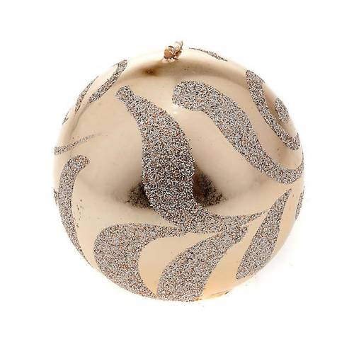 Christmas decoration sphere candle champagne s1