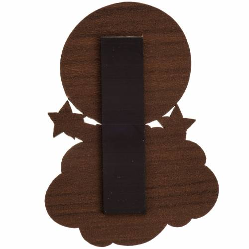 Christmas Magnet in wood, baby Jesus with star s2