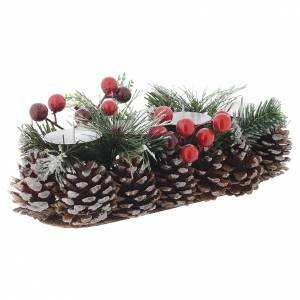 Christmas home decorations: Christmas table centrepiece, candle holder for 4 candles