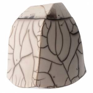 Cinerary urn, Naked Raku, Square 1/10 s3