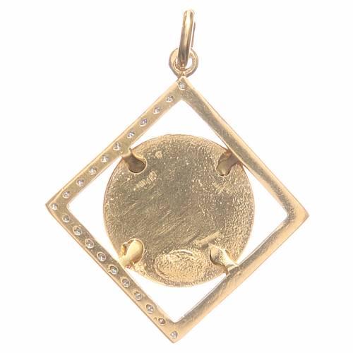 Ciondolo argento 800 Sant'Antonio Padova 1,6x1,6 cm s2